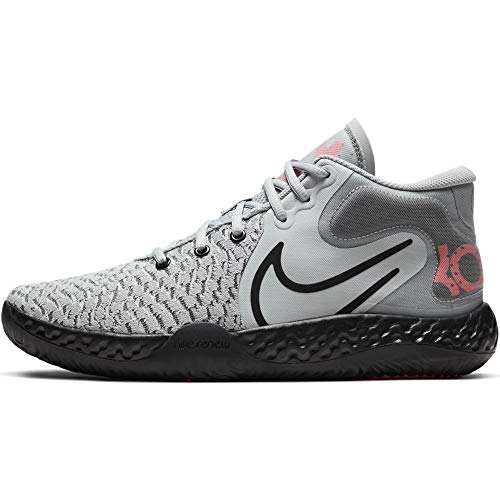 Nike Mens KD Trey 5 VIII Basketball Shoes (Light Smoke Grey/Laser Crimson/Black, Numeric_12)