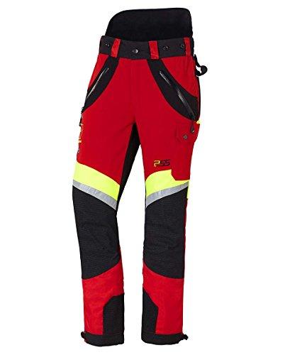 PSS X-Treme Air Schnittschutzhose rot/gelb, die Sportliche, Größe 106 schlank und groß