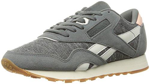 Reebok Classic - Zapatillas de Nailon para Hombre, Color Gris, Talla 35 EU