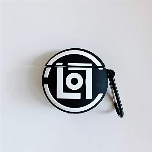 JIAJIA maleta airpods cubierta protectora patineta guitarra Apple inalámbrico Bluetooth auriculares carcasa silicona cubierta es adecuada