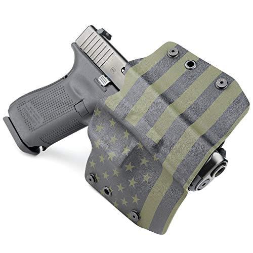 OWB Holster - USA Green & Black (Right-Hand, Fits Glock Polymer 80-17,22,19,23,26,27 - PF940C, PF940V2, PF940CL, PF940SC)