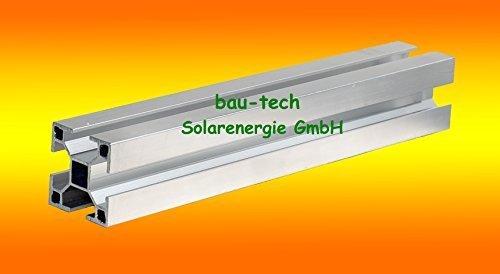 1 Meter Aluprofil, Montageprofil Standard 40 x 40mm von bau-tech Solarenergie