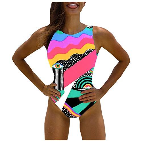 Dicomi Sommer Frauen Bikini Set Badeanzug One-Piece Hoch Taille Bauch Kontrolle Push Up Print Jumpsuit Beachwear Bademode