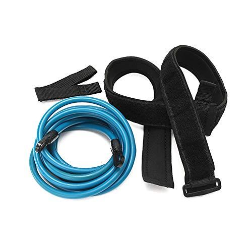 Cinturón De Entrenamiento De Natación, Cinturón Ajustable De Entrenamiento De Bungee Resistencia De Piscina Cuerda De Tracción De Seguridad Cuerda De Ejercicio Adecuado Para Movimiento Nadar (Blue)