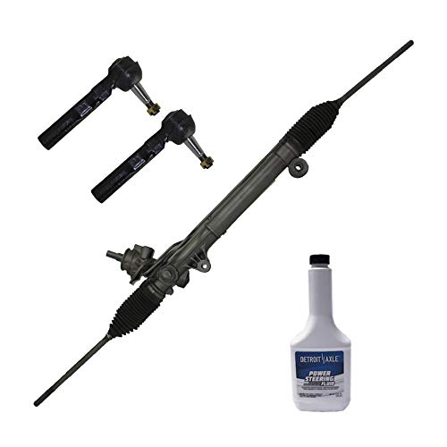 Detroit Axle - Complete Power Steering Rack and Pinion Assembly w/2 Outer Tie Rods & 1 Power Steering Fluid for 2005-2007 Buick Terraza FWD - [2005-2009 Chevrolet Uplander FWD]
