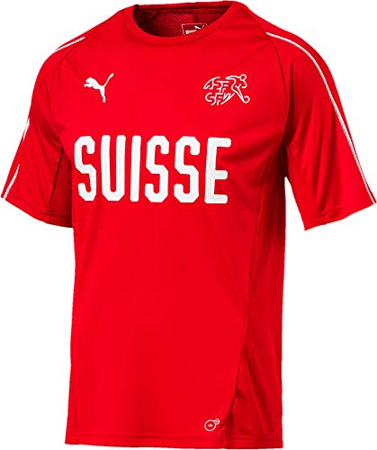 PUMA Herren Suisse Training Jersey Red, L