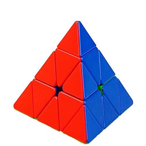 YongJun YJ Ruilong Pyraminx 3x3 Cubo mágico Ruilong Pirámide Triángulo de Cuatro Ejes Tetraedro Velocidad Puzzle Cubo Suave torneado de Juguete (Sin Etiqueta)