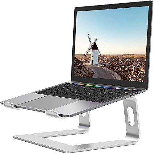 Laptop Stand,Ergonomic Aluminum Laptop Mount Computer Stand, Detachable Laptop Riser Notebook Holder Stand Compatible with MacBook Air Pro,Dell XPS,Lenovo More 10-15.6' Laptops,Silver
