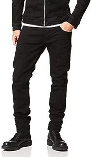 G-Star RAW(ジースターロゥ) 3301 スリムフィット 暖かい ブラックジーンズ メンズ デニム