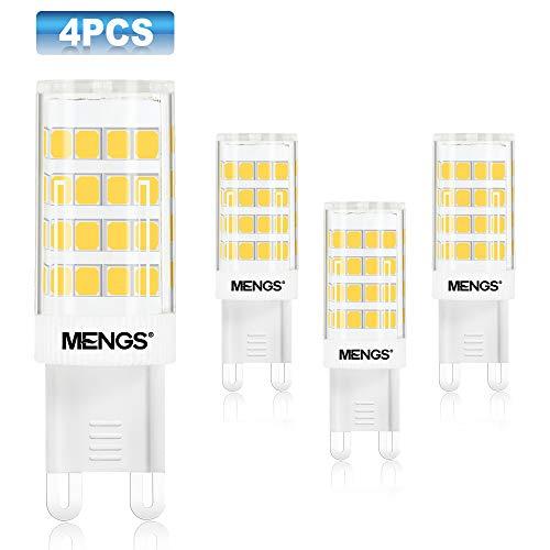 MENGS 4-er Pack 5W G9 LED Glühbirne 480lm 3000K Warmweiß AC 220-240V LED G9 Leuchtmittel Ersatz 40W Halogen Glühbirne 2835 LEDs geeignet für Büro, Wohnzimmer, Geschäft Nicht dimmbar