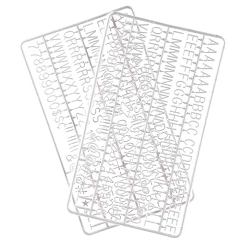 3/4 Inch Letters for Flet Letter Boards,300 Pieces Including Letters, Numbers & Symbols for Changeable Plastic Message Boards (White)