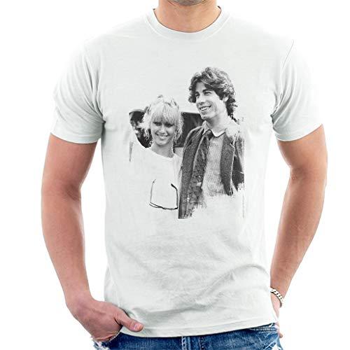 RWYZTX® John Travolta Olivia Newton John Grease Release UK 1978 Men's T-Shirt