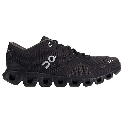 ON Running Womens Cloud X Textile Synthetic Black Asphalt Trainers 7 US