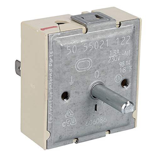Bauknecht Ikea Ignis Philips Whirlpool 481010427882 ORIGINAL Kochplattenschalter Zweikreisschalter Schalter EGO 5055021122 Kochfeld auch Indesit Ariston Hotpoint C00397129 passend wie Gorenje 606086