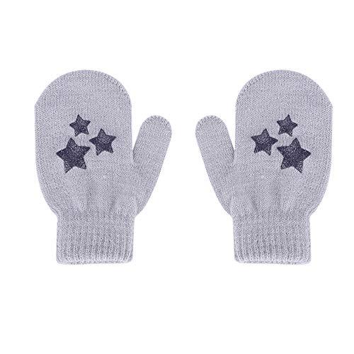 Handschoenen kinderen winterhandschoenen warme wanten lief patroon vuisthandschoen meisjes jongens handschoenen anti-kraspreventie gebreide handschoenen dagelijks gebruik vingerhandschoenen Kerstmis Halloween cadeau lichtgrijs