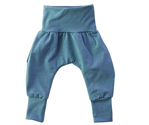 Annsfashion Pantalon Bouffant Pantalon Bébé Pantalon Pantalon Stretch Violet Enfant Uni fabriqué à la Main en Berlin - Bleu - 74/80 cm