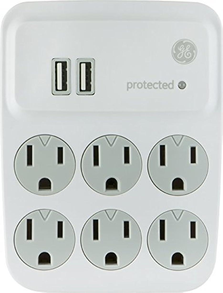 理論ホステスピークGE 25797 Surge Tap, 6 Outlets, 450J, 2 USB Ports, Device Shelf [並行輸入品]