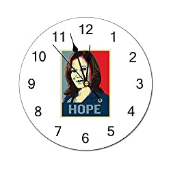 Tian Smile Harris 2020 10 inch Wall Clock, Silent, Graduated Battery Power, Suitable for Home Office and School use
