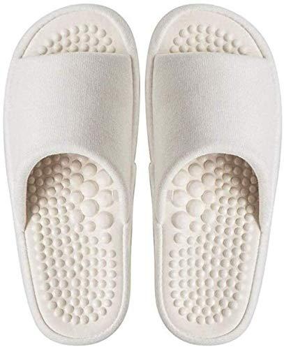 ZSW Zapatillas de Masaje con acupunturas para pies en Interiores, Hombres y Mujeres, Parejas, Verano e Invierno, Parte Inferior Gruesa, Antideslizante e Impermeable (tamaño: 40-41)-36-37