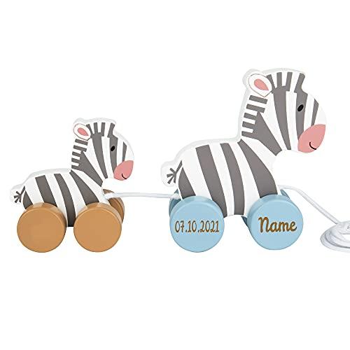 Elefantasie Nachziehtier Zebra aus Holz...