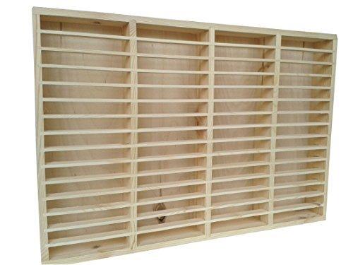eCom Fabarius MC Regal für 60 Kassetten, Medienregal aus Holz (Kiefer), fertig montiert, Farbe Kiefer