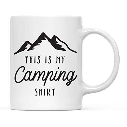 N\A Regalo de Taza de café de Aventura, Esta es mi Camisa de Camping, Paquete de 1, Ideas de Regalo de cumpleaños y Navidad