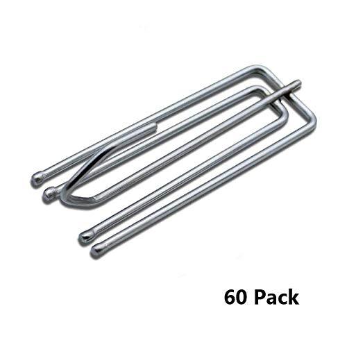 Ipeak Metall-Vorhanghaken, Klemmfalte, Kräuselband, 60 Stück, metall, silber, Pack of 60