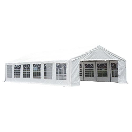 Outsunny 40' x 20' Party Tent Event Canopy with Sidewalls and Windows - White
