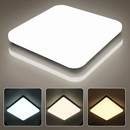 LED Deckenleuchte, 36W 3600LM Einstellbar Deckenlampe, LEOEU IP54 Led Lampe Ideal für Bad Büro Schlafzimmer Esszimmer Treppe Flur Hotel, 3000K/4000K/6500K