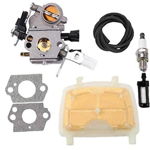 C1q-S121C carburador con filtro de aire para STIHL MS171 MS181 MS211 MS 181 171 211 Filtro de gas de chispa de la motosierra de combustible Plug 120 1139 1602 Repuesto