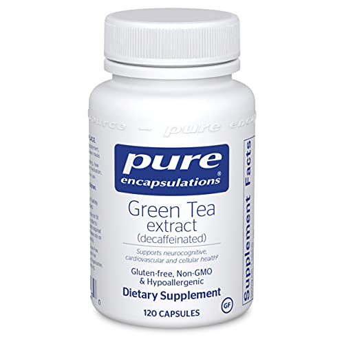 Pure Encapsulations - Green Tea Extract (Decaffeinated) - Hypoallergenic Antioxidant Support for All Cells in The Body* - 120 Capsules