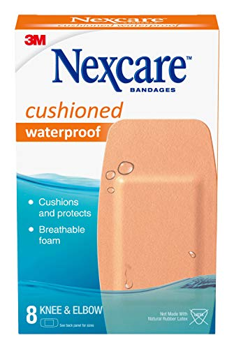 Nexcare Active Extra Cushion Bandages, Knee and Elbow, Breathable, 8-Count Packages (Pack of 6)