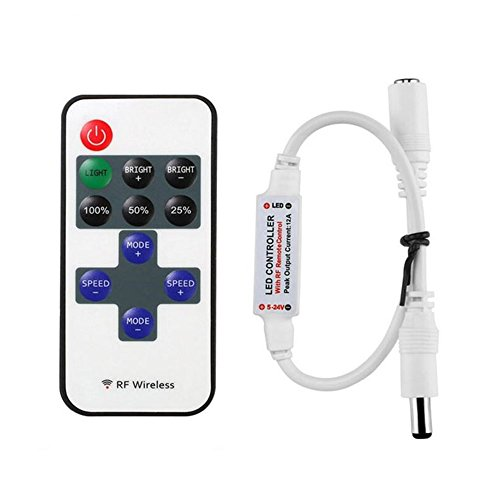 11key RF Mini Wireless Remote Controller DC5-24V for 3528 5050 Single Color LED Strip Lights Wireless Switch Dimmer Control