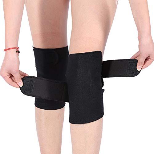 1 Paar Selbsterhitzung Kniebandage, Turmalin Kniest¨¹tze Magnetfeldtherapie Knieschoner, aus elastisches Gewebe + magnetischer Stein + Turmalin