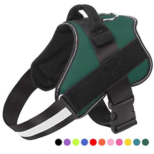 Bolux Dog Harness, No-Pull Reflective Breathable Adjustable Pet Vest with Handle for Outdoor Walking - No More Pulling, Tugging or Choking