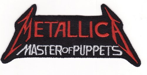 4,5 cm x 11,6 cm Metallica Heavy Metal banda diy Applique bordado co