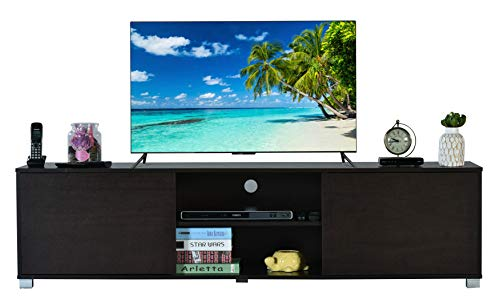 DeckUp Cannes 2-Door TV Stand and Home Entertainment Unit (Dark Wenge, Matte Finish)