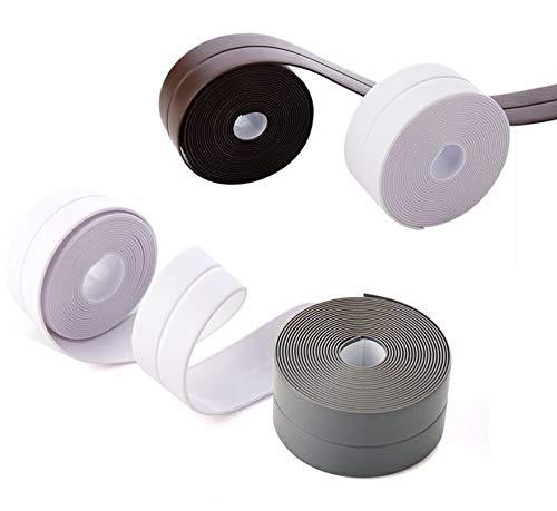 Lesai Dichtband Dusche,Wasserdicht Wannendichtband Selbstklebend,90 Grad PE Badewanne Abdichtungsband(weiß, 2 Stück,38mmX 3,35M)