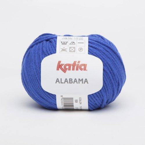 Alabama, media resistente de algodón hilo de Katia - blanco (1)
