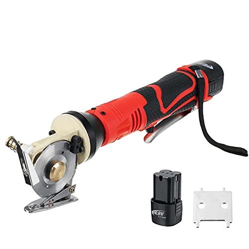 Cortador de Tela eléctrico, Tijeras Redondas inalámbricas de 16,8 V con Hoja...