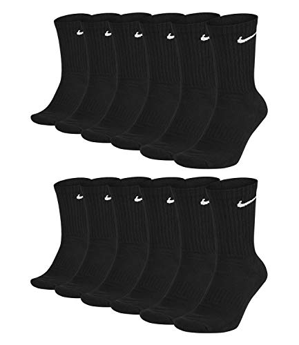 Nike Unisex Trainingssocken Everyday Cushioned Crew Socks SX7664 6 Paar, Artikel:-010 black, Größe:46-50