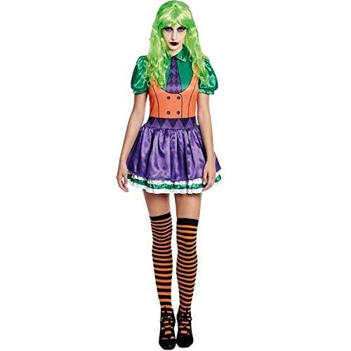 H HANSEL HOME Disfraz Bufona Joker Adulto - Mujer Vestido para Cosplay/Carnaval/Halloween Size S