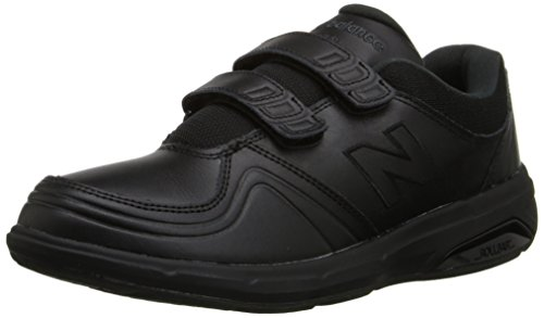 New Balance Women's 813 V1 Hook and Loop Walking Shoe, Black, 7.5 W US