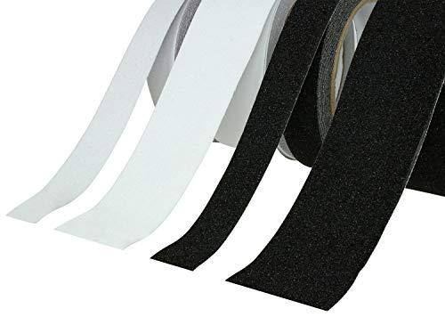 Antirutschband | Klebeband Rutschhemmend PVC | Schwarz oder Transparent, 25mm oder 50mm, 5M oder 10M Extra Grip –große Auswahl- (5M x 25mm, Transparent)