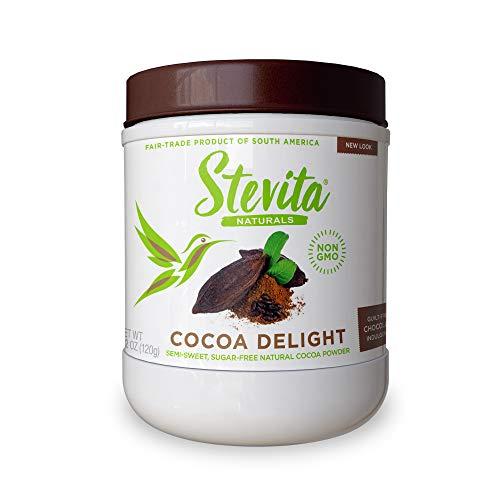 Stevita Cocoa Delight - 4.2 oz - Natural Cocoa Powder with Stevia -...
