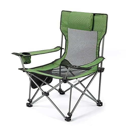 Haoshangzh55 Silla De Ocio Plegable Al Aire Libre, 80 * 50 * 50 Cm, Puede Sentarse Y Acostarse Libremente Sillón De Jardín De Tumbona Ajustable, Reclinable Plegable (Cojinete De 130 Kg),Green 1