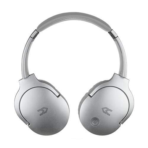 Avenzo - Auriculares Inalámbricos, Modelo AV612, Con Bluetooth, Cómodos y Adaptables, Auriculares con Micrófono, Auriculares Inalámbricos Diadema, Color Plata