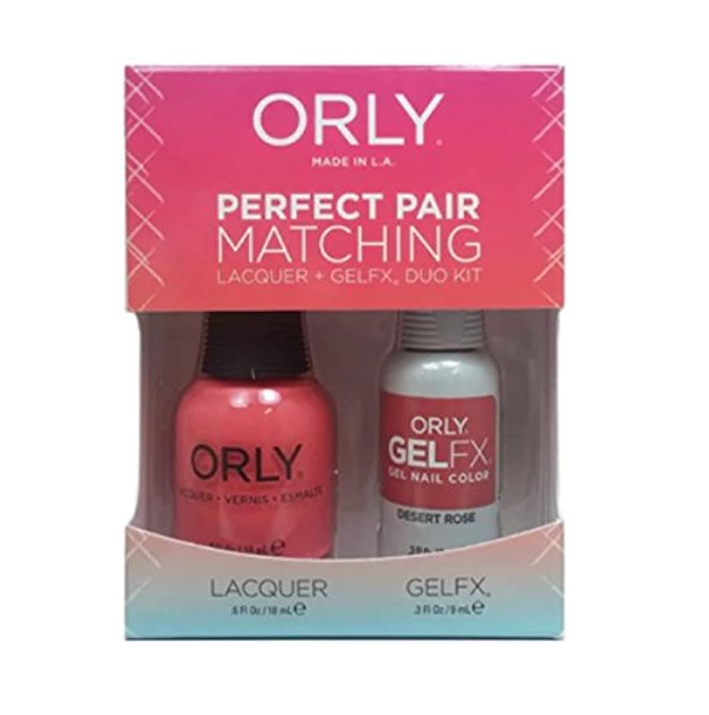 消毒剤採用克服するOrly - Perfect Pair Matching Lacquer+Gel FX Kit - Desert Rose - 0.6 oz / 0.3 oz