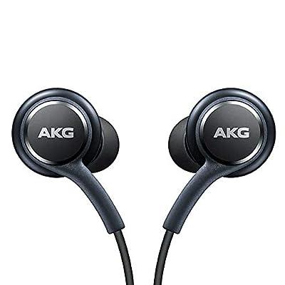Official Samsung Galaxy S8 / S8+ Handsfree Headphones/Earphones - Tuned by AKG/Harman Kardon - Black (EO-IG955BSEGWW) - Bulk Packed, Frustration Free Packaging from Samsung