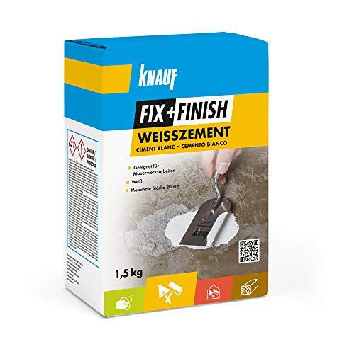 Knauf 593805 Fix+Finish Weißzement, weiß, 1,5 kg